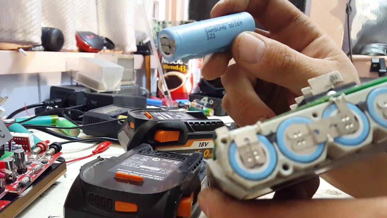 aeg li ion 12v and 18v battery tear downs liion battery. Black Bedroom Furniture Sets. Home Design Ideas