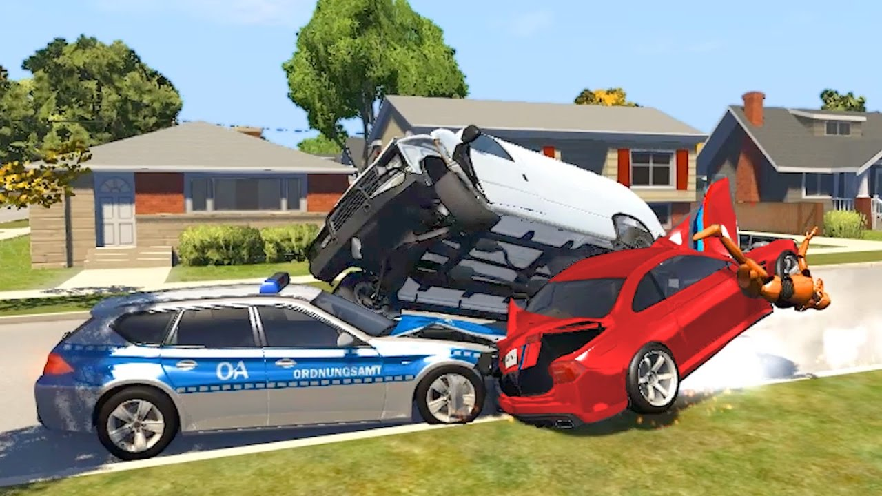 beamng drive  sports car  lifted truck  suv crashes youtube