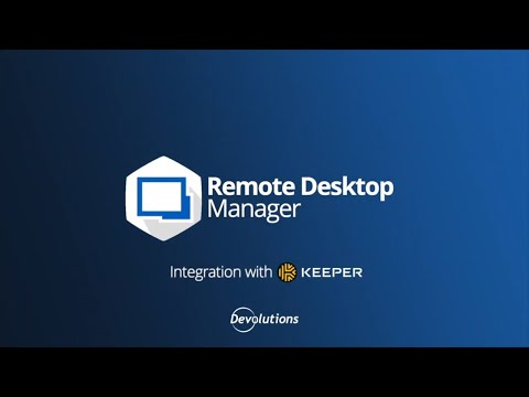 How To Integrate Keeper with Remote Desktop Manager
