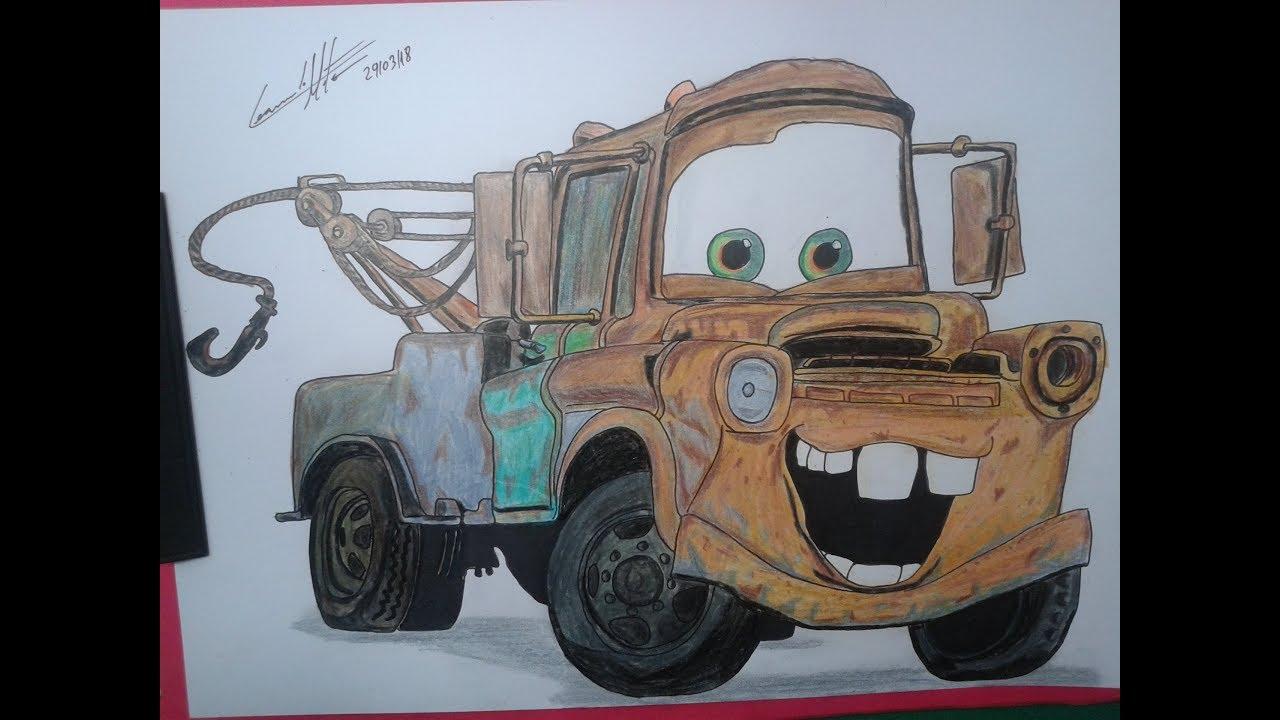 Desenhando O Mate O Amigo Do Mcqueen Do Filme Carros