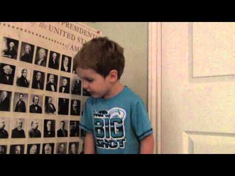 My 2 1/2 year old son naming the United States Presidents