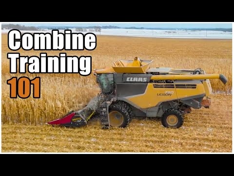 How to Operate a Combine | Harvesting Corn