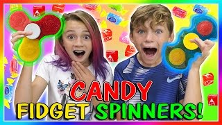 😀CANDY FIDGET SPINNERS DIY😀| We Are The Davises