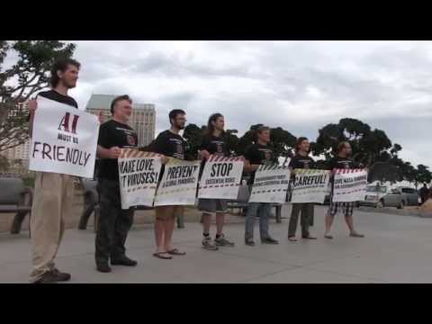 Transhumanist Demonstration in San Diego #ImmortalityBus