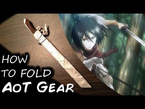Origami Attack On Titan Blade