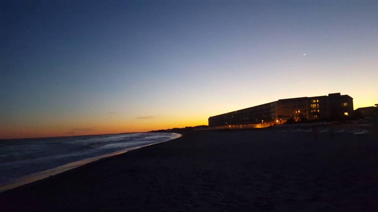Beautiful Sunset On Folly Beach In Charleston South Carolina