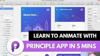 Learn to Animate with Principle App in 5 Minutes