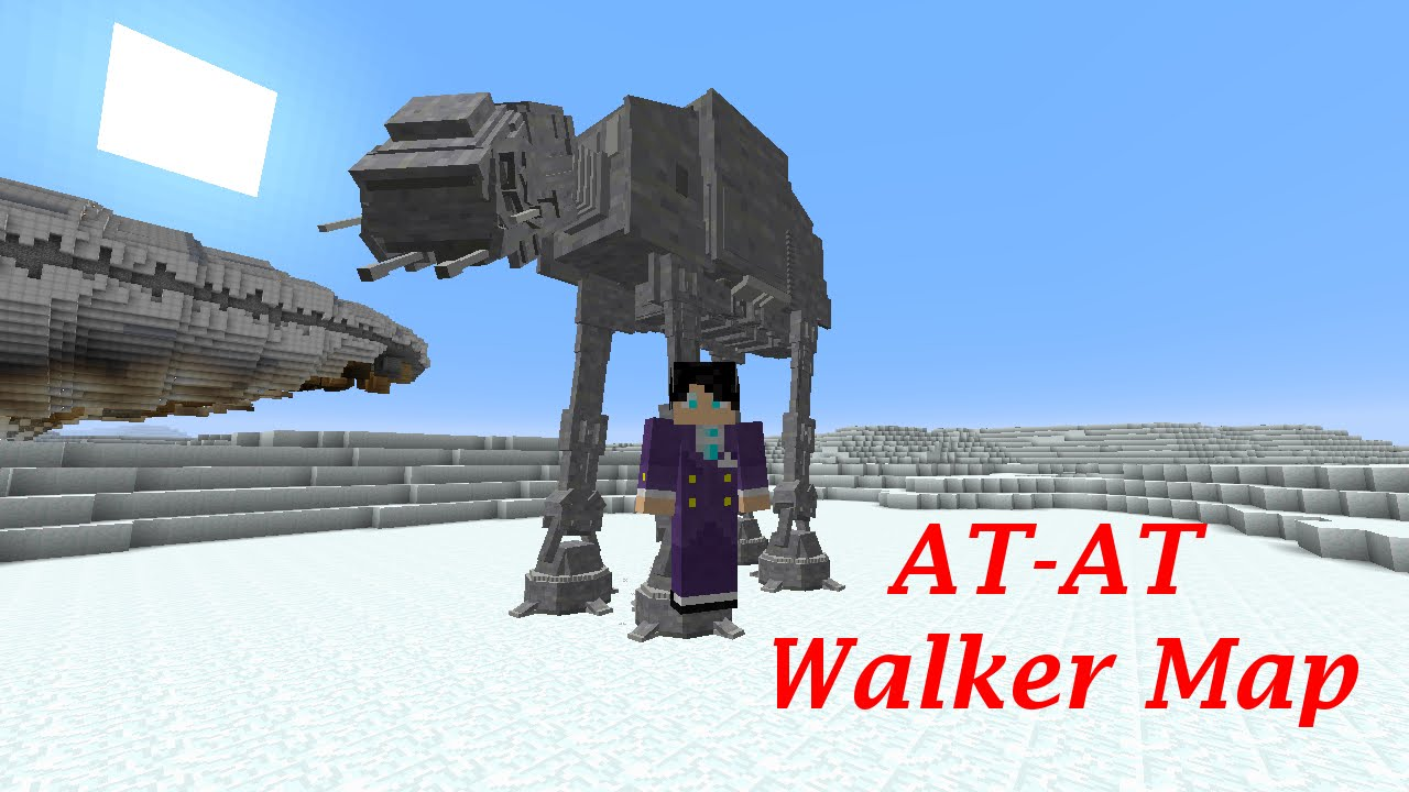 minecraft star wars at at walker map youtube. Black Bedroom Furniture Sets. Home Design Ideas