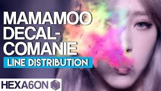 MAMAMOO - Décalcomanie Line Distribution (Color Coded)