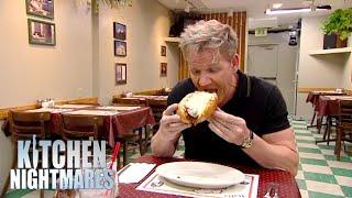 Gordon Has No Idea How To Eat MASSIVE Meatball Sub   Kitchen Nightmares