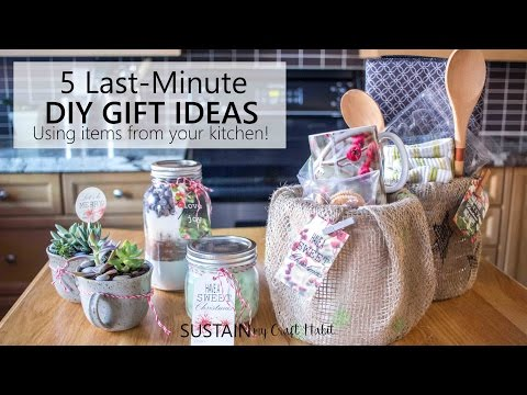 5 Last-Minute, Quick and Easy Gift Ideas you can Make with Items from Your Kitchen