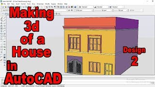 3D house in AutoCAD from Scratch-Learn making complete 3d House in AutoCAD-Easy and Step by Step