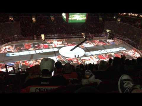 Ottawa Senators vs Philadelphia Flyers 3/28/17 - Intros on Fan Appreciation Night