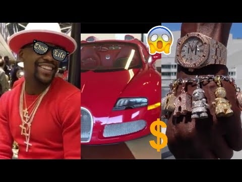 FLOYD MAYWEATHER SHOWS OFF HIS CARS AND JEWELRY ON INSTAGRAM!!!