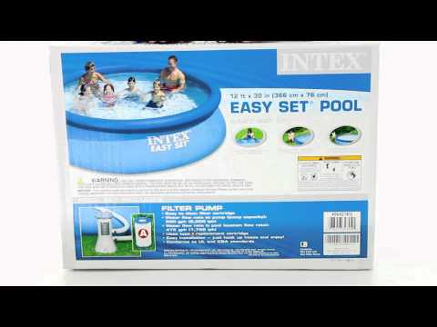 intex 12 39 x 30 easy set pool w pump 56421eg youtube. Black Bedroom Furniture Sets. Home Design Ideas