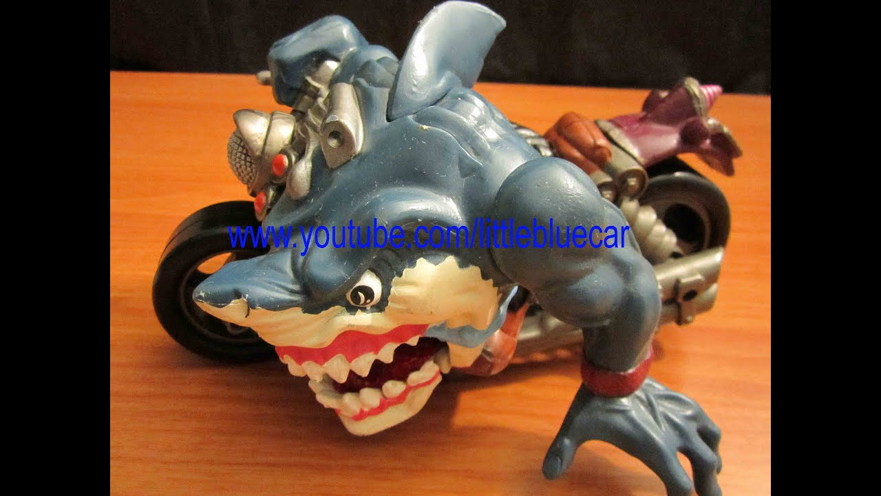Street Sharks Toys : Street sharks toy rip rider motorcycle youtube