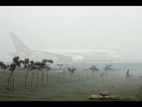 Fog Disrupts Flight Operations At Delhi Airport