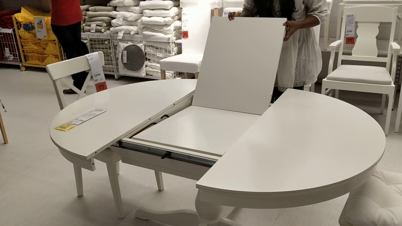 Beautiful Extendable Dining Table Demo At Ikea Youtube