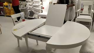 Beautiful Extendable Dining Table Demo At Ikea
