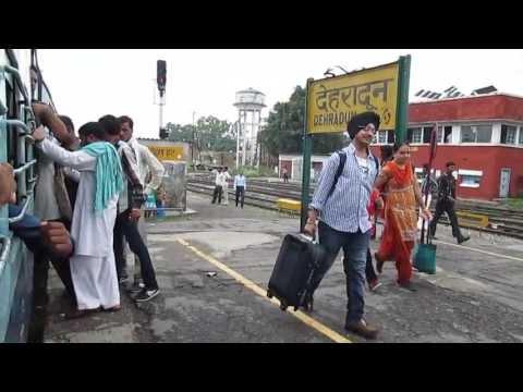 Leaving Dehradun on Allahabad - Dehradun Link Kathgodam Express PART :- 1
