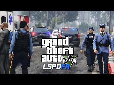 GTA V - LSPDFR- 0.4.4  - New Jersey State Police - Wreckless Driver