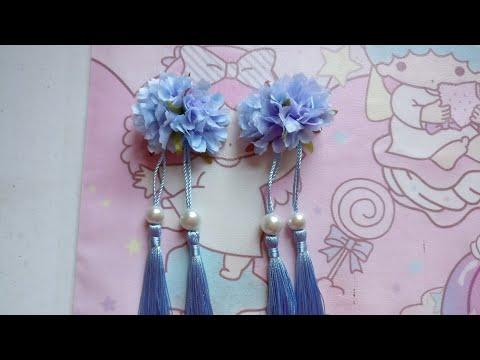 DIY Tutorial - Chinese Hair Accessories Flower Hair Clips