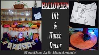 Halloween DIY & Hutch decor/Halloween Bunting DIY