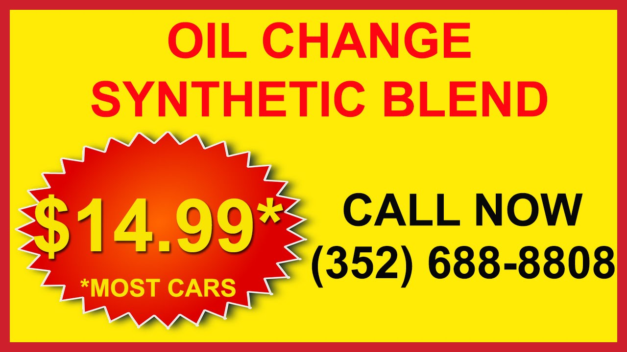 Coupons For Oil Change >> Cheap Discount Synthetic Oil Change Specials & Coupons in Spring Hill , FL - YouTube