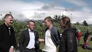 Óli Stefán og Hjalti tala um bikarinn