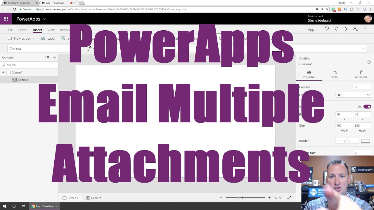 PowerApps Email Multiple Attachments