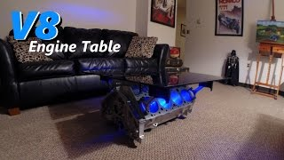 V8 Engine Block Table With Leds - Jordans Latest Project