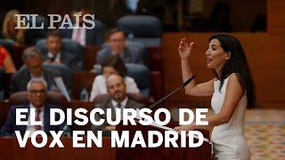 El discurso de VOX en la ASAMBLEA DE MADRID