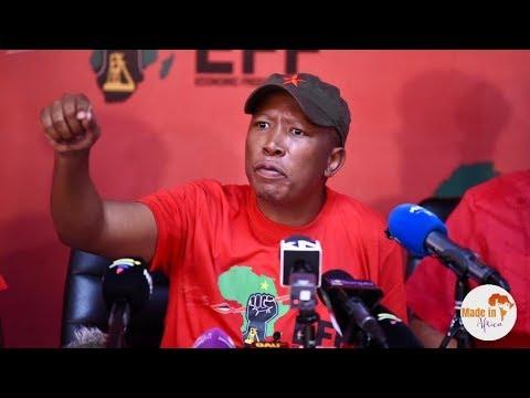 Julius Malema sends a strong message to Mnangagwa on Zimbabwe