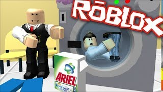 I am STUCK IN the washing machine! (Roblox Obby)
