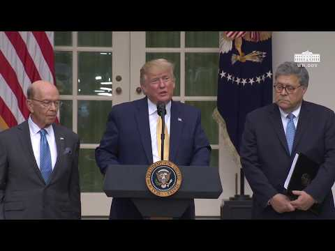 President Trump Delivers Remarks on Citizenship and the Census