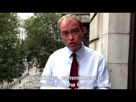 Tim Farron on the Liberal Democrat plan for Britain in Europe