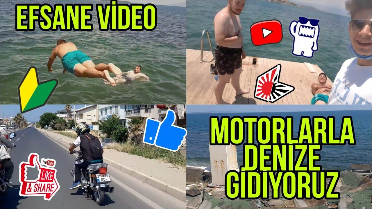MOTORLARLA DENİZE GİDİYORUZ EFSANE VİDEO #BerkÇakmak #İzmir #Motor