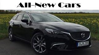 New Mazda 6 Wagon Facelift Sportsline 2015 2016 driving, exterior, interior