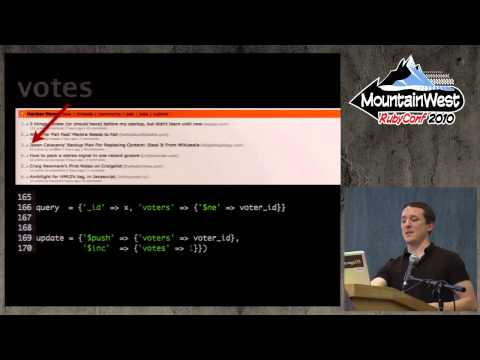 MountainWest RubyConf 2010 - MongoDB Rules by Kyle Banker
