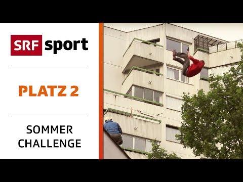 Parkour: Im Salto über den «Manpower Gap»   Platz 2 - Best of Sommer-Challenge   SRF Sport