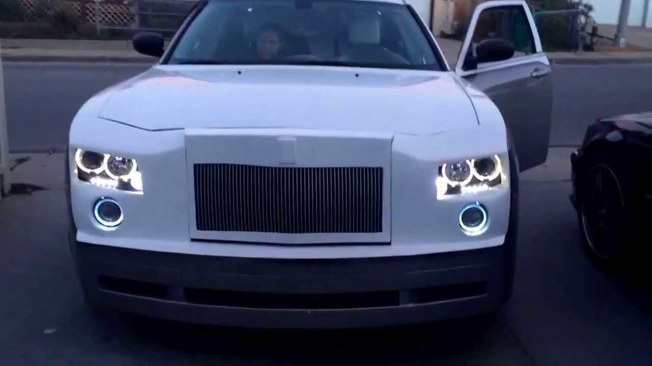 chrysler 300 (rolls royce front-end) - youtube