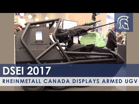 Rheinmetall Canada Displays Armed UGV