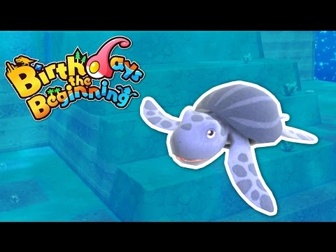 Giant Leatheback Turtles! - Let's Play Birthday's The Beginnings Gameplay