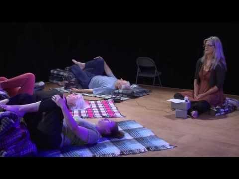 Yoga Talk Krishna demonstrates Svaroopa Yoga
