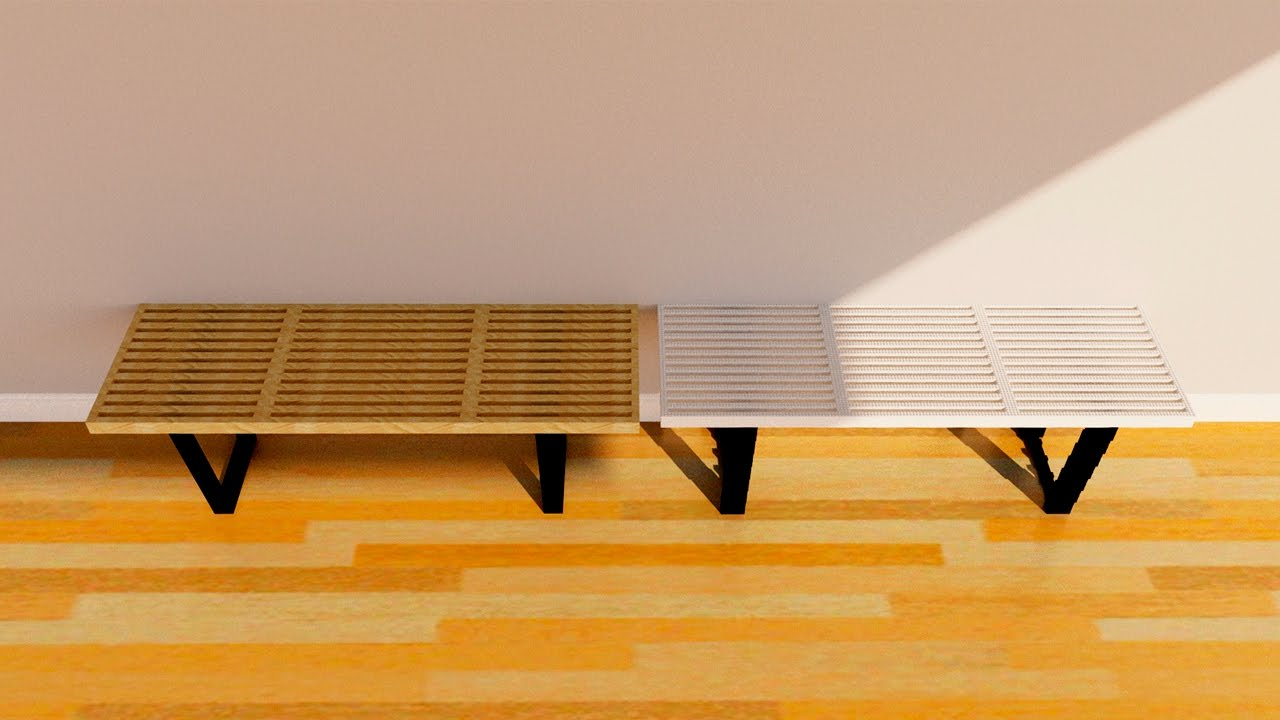george nelson bench. Woodworking With Lego - Making The George Nelson Platform Bench F