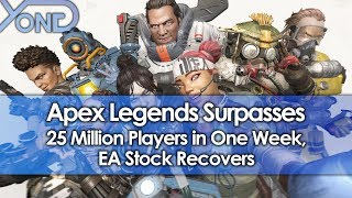 Apex Legends Surpasses 25 Million Players in One Week, EA Stock Recovers
