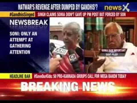 Ambika Soni: No truth in claims made by Natwar Singh in his book