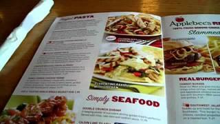 Applebee's Restaurant Menu and Dinner U.S.A. 09-2011
