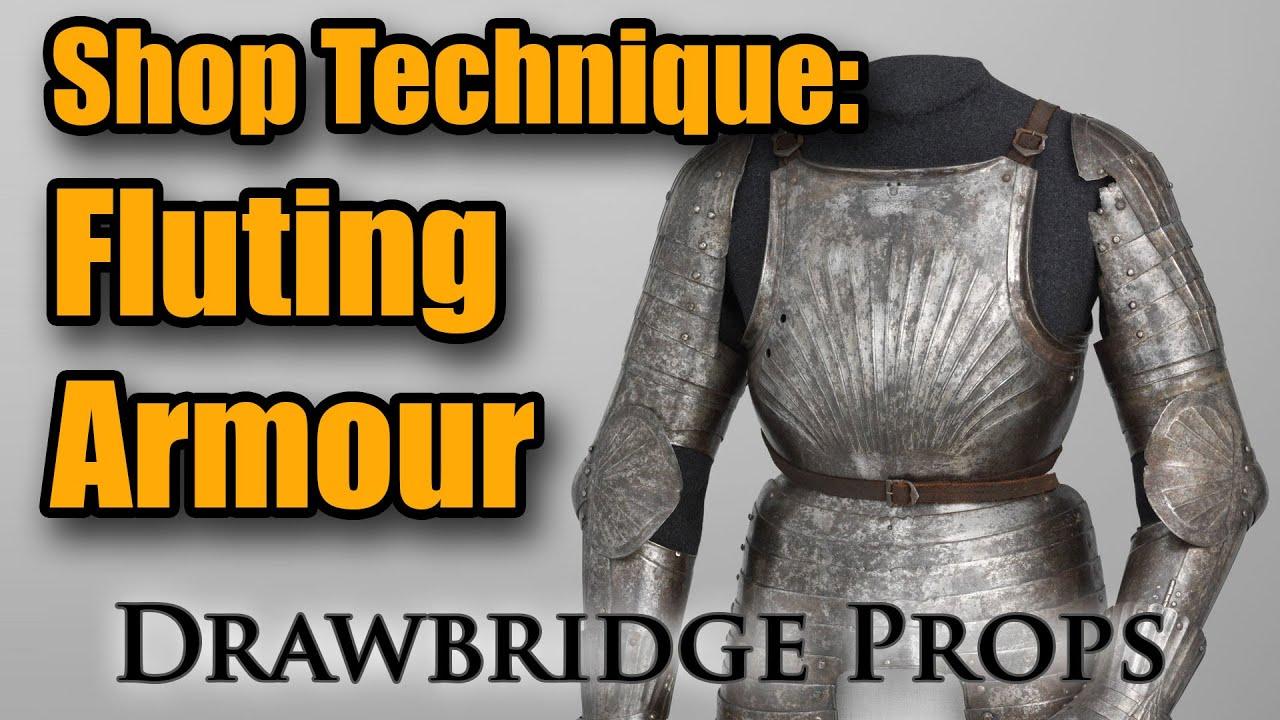 Drawbridge Props - Making Fluted Armour - YouTube