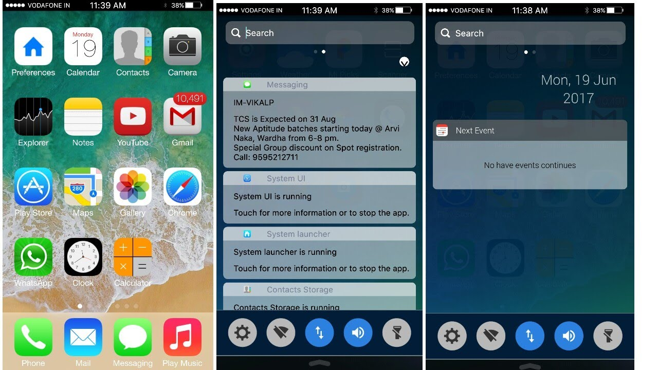 Change your Android into ios with animation and notification bar  2017